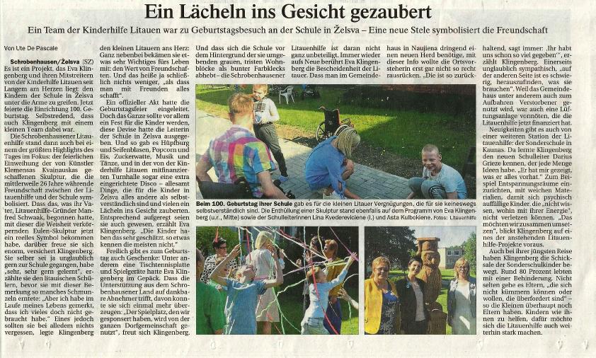 Ein Bericht im Donaukurier von Ute De Pascale vom 20.06.2018