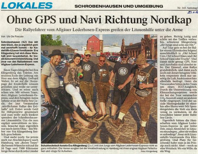 Ohne GPS und Navi Richtung Nordkap
