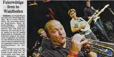 Irish Folk Band Paddy Whack im Gasthof Bogenrieder