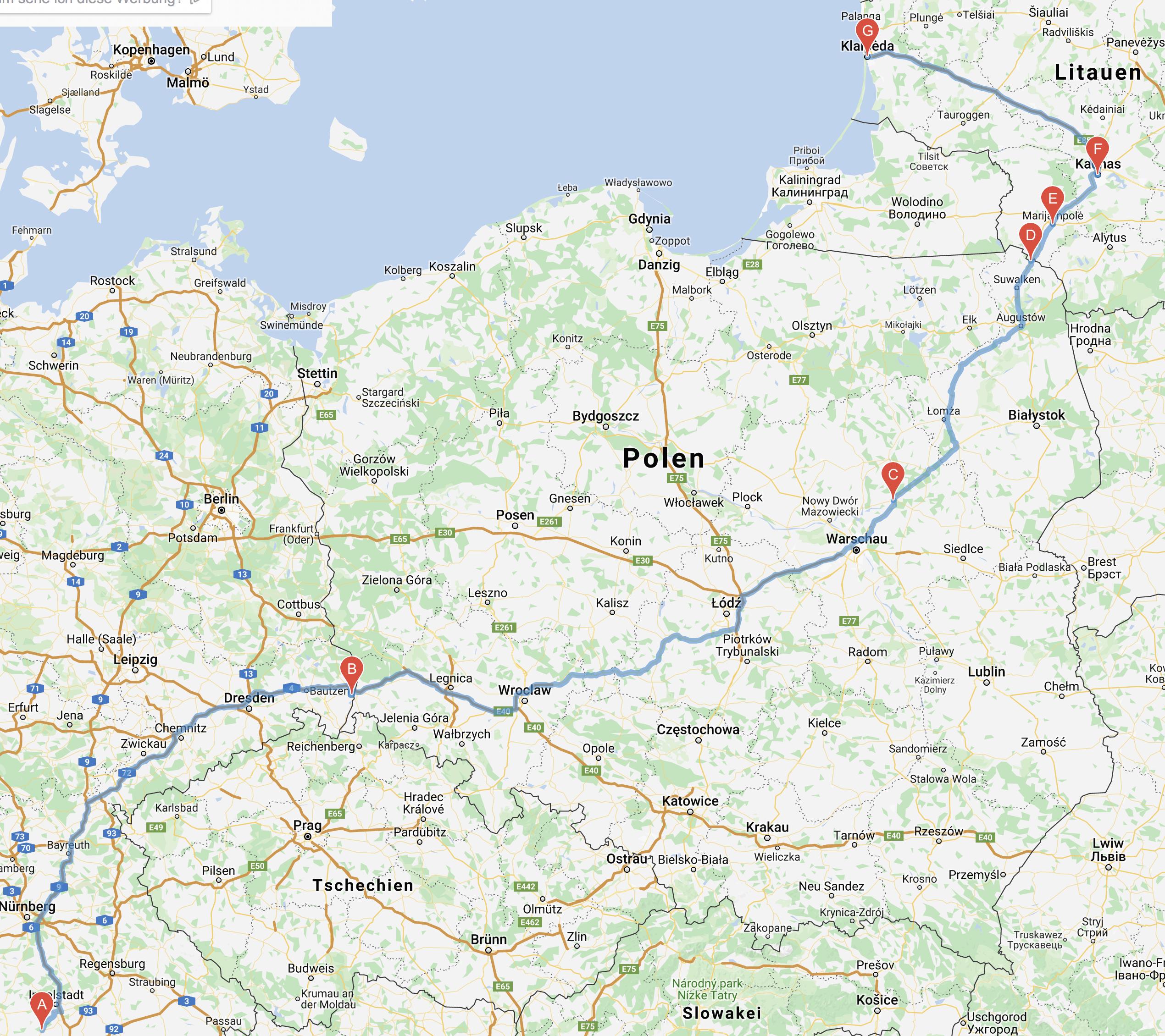 Erster Reisetag nach Polen 1