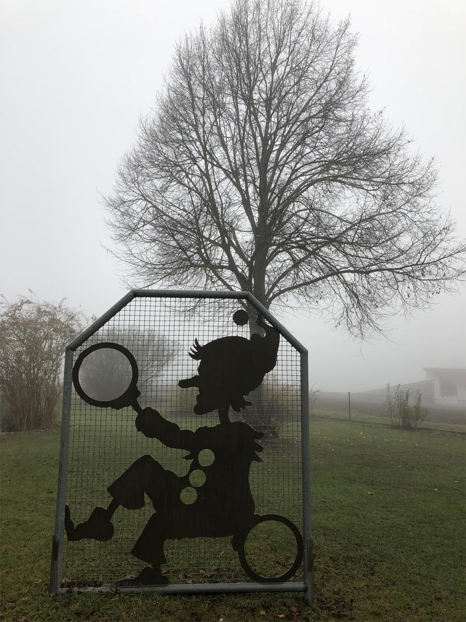 Dicker Nebel im Moos