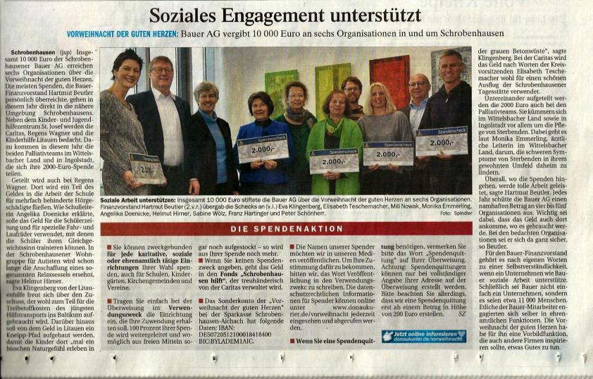 Soziales Engagement unterstützt