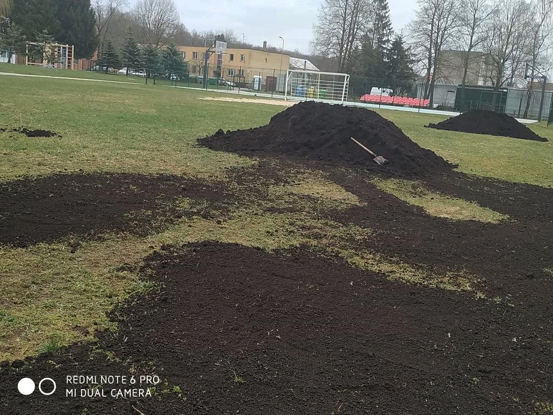 vorbereitende Arbeiten von der Rasenaussaat 1