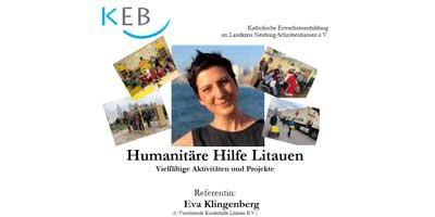 Humanitäre Hilfe Litauen - Vielfältige Aktivitäten und Projekte