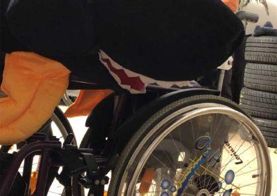 Großer Fisch im Rollstuhl Rotarier Club Schrobenhausen