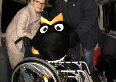 Rotary Club und Litauenhilfe Rollstuhl im Transporter