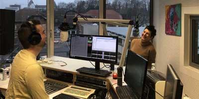 Eva bei Radio IN und Benedikt Zipperer