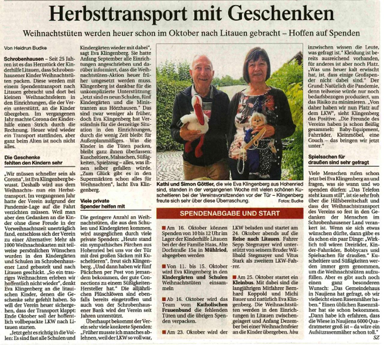 Herbsttransport 2021 Von Heidrum Budke Schrobenhausener Zeitung 08.10.2021
