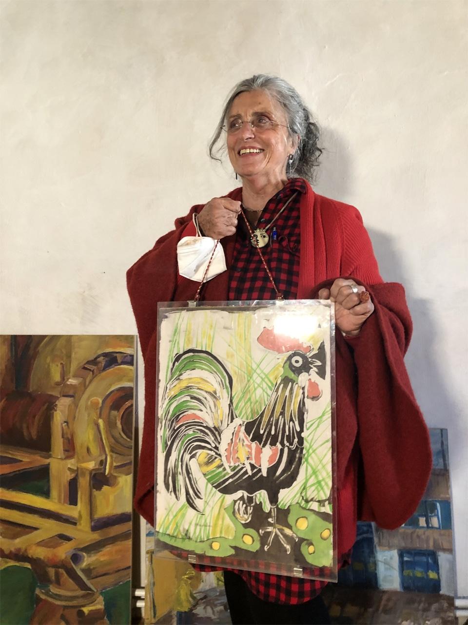 Kriemhild Jager spendet Bilder für Kinderhilfe