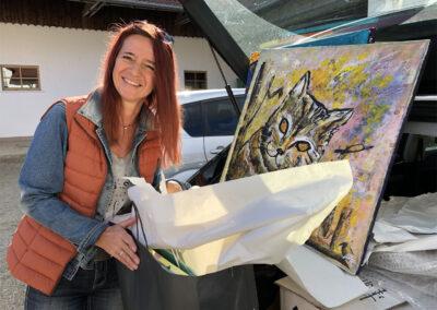 Ulrike Halfmann Künstlerin Spenden für Kaunas Katze